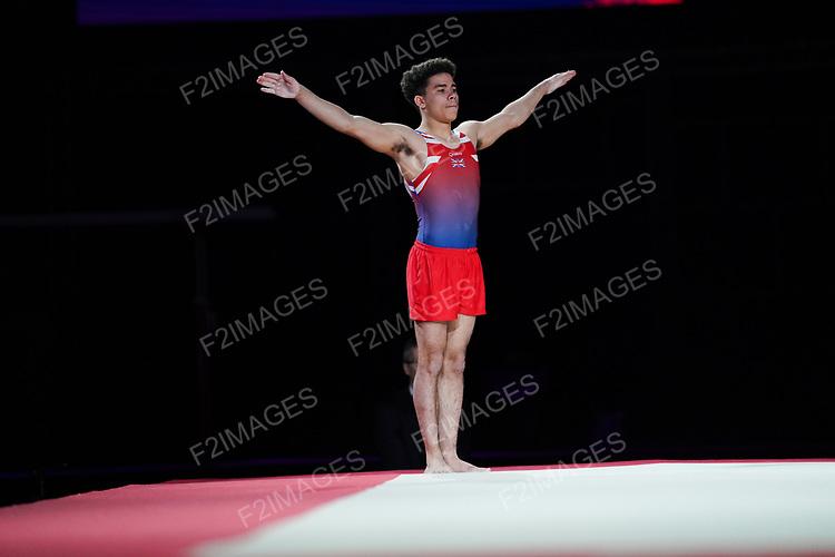 Gymnastics World Cup  23.3.19. World Resorts Arena. Birmingham UK.  Thais Fidelis (BRA)<br />  in action