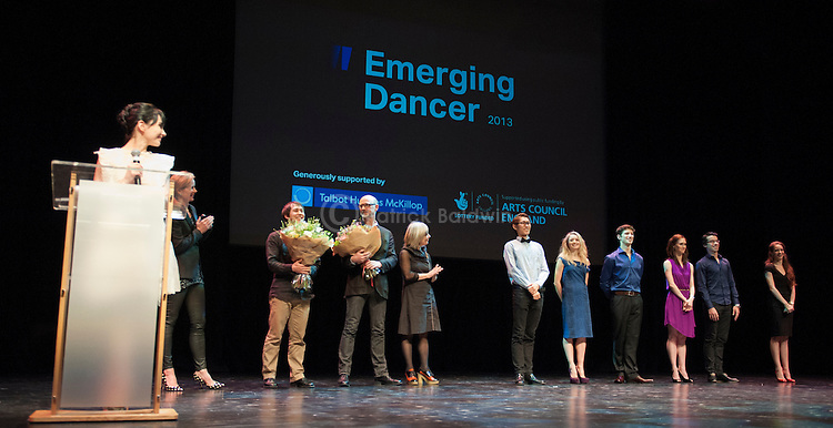 English National Ballet. Emerging Dancer competition 2013. The Queen Elizabeth Hall. Awards presentation.