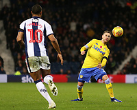 Leeds United's Barry Douglas attempts to control the ball<br /> <br /> Photographer David Shipman/CameraSport<br /> <br /> The EFL Sky Bet Championship - West Bromwich Albion v Leeds United - Saturday 10th November 2018 - The Hawthorns - West Bromwich<br /> <br /> World Copyright © 2018 CameraSport. All rights reserved. 43 Linden Ave. Countesthorpe. Leicester. England. LE8 5PG - Tel: +44 (0) 116 277 4147 - admin@camerasport.com - www.camerasport.com