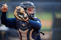 Atlanta Braves Logan Brown (57) during practice before a Minor League Spring Training game against the New York Yankees on March 12, 2019 at New York Yankees Minor League Complex in Tampa, Florida.  (Mike Janes/Four Seam Images)
