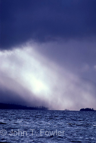 Storm at sea, Queen Charlotte Island<br />