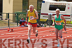 2237-2240.Tony Buckley (Gneeveguilla AC) makes a burst for the line during the 100m at the Munster Masters and Juvenile Track and Field Championships in Castleisland last Sunday....