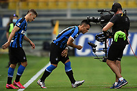 Nicolo Barella and Lautaro Martinez of FC Internazionale  during the Serie A football match between Parma and FC Internazionale at stadio Ennio Tardini in Parma ( Italy ), June 28th, 2020. Play resumes behind closed doors following the outbreak of the coronavirus disease. <br /> Photo Andrea Staccioli / Insidefoto