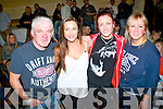 Supporting their boy Ian, who took part in the Champion Thai boxing night last Saturday in the Mount Brandon hotel, Tralee were l-r: Liam, Stephanie, Selena and Sue Griffin.