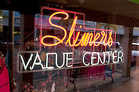 Neon sign for a shop on Corey Avenue.  St. Pete Beach Tampa Bay Area Florida USA