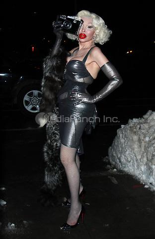 NEW YORK, NY - JANUARY 11: Amanda Lepore arriving at the IFC Films premiere of Freak Show at the Landmark Sunshine Cinema in New York City on January 10, 2018. Credit: RW/MediaPunch