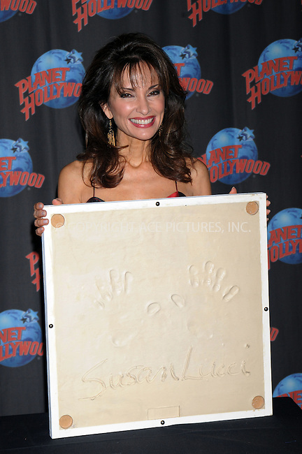 WWW.ACEPIXS.COM . . . . . ....December 18 2008, New York City....Actress Susan Lucci left her hand prints at Planet Hollywood on December 18 2008 in New York City....Please byline: KRISTIN CALLAHAN - ACEPIXS.COM.. . . . . . ..Ace Pictures, Inc:  ..tel: (212) 243 8787 or (646) 769 0430..e-mail: info@acepixs.com..web: http://www.acepixs.com