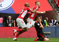 Patrick Bauer celebrates scoring Charlton's second goal with Josh Parker during Charlton Athletic vs Sunderland AFC, Sky Bet EFL League 1 Play-Off Final Football at Wembley Stadium on 26th May 2019
