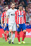 Atletico de Madrid's Jan Oblak and Fernando Torres during La Liga match between Atletico de Madrid and Malaga CF at Wanda Metropolitano in Madrid, Spain September 16, 2017. (ALTERPHOTOS/Borja B.Hojas)