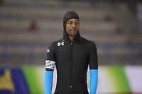 SCHAATSEN: CALGARY: Olympic Oval, 08-11-2013, Essent ISU World Cup, 500m, Shani Davis (USA), ©foto Martin de Jong
