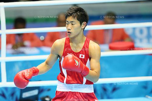 Kenji Fujita (JPN), <br /> SEPTEMBER 26, 2014 - Boxing : <br /> Men's Bantam (-56kg) <br /> at Seonhak Gymnasium <br /> during the 2014 Incheon Asian Games in Incheon, South Korea. <br /> (Photo by YUTAKA/AFLO SPORT)