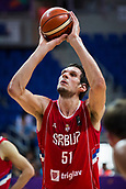 7th September 2017, Fenerbahce Arena, Istanbul, Turkey; FIBA Eurobasket Group D; Belgium versus Serbia; Center Boban Marjanovic #51 of Serbia performs free throw during the match