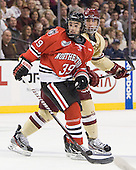 Rob Dongara (Northeastern - 39), Tommy Cross (BC - 4) - The Boston College Eagles defeated the Northeastern University Huskies 7-1 in the opening round of the 2012 Beanpot on Monday, February 6, 2012, at TD Garden in Boston, Massachusetts.
