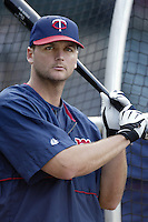 A.J. Pierzynski of the Minnesota Twins before a 2002 MLB season game against the Los Angeles Angels at Angel Stadium, in Anaheim, California. (Larry Goren/Four Seam Images)