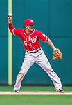 22 June 2014: Washington Nationals infielder Danny Espinosa in action against the Atlanta Braves at Nationals Park in Washington, DC. The Nationals defeated the Braves 4-1 to split their 4-game series and take sole possession of first place in the NL East. Mandatory Credit: Ed Wolfstein Photo *** RAW (NEF) Image File Available ***