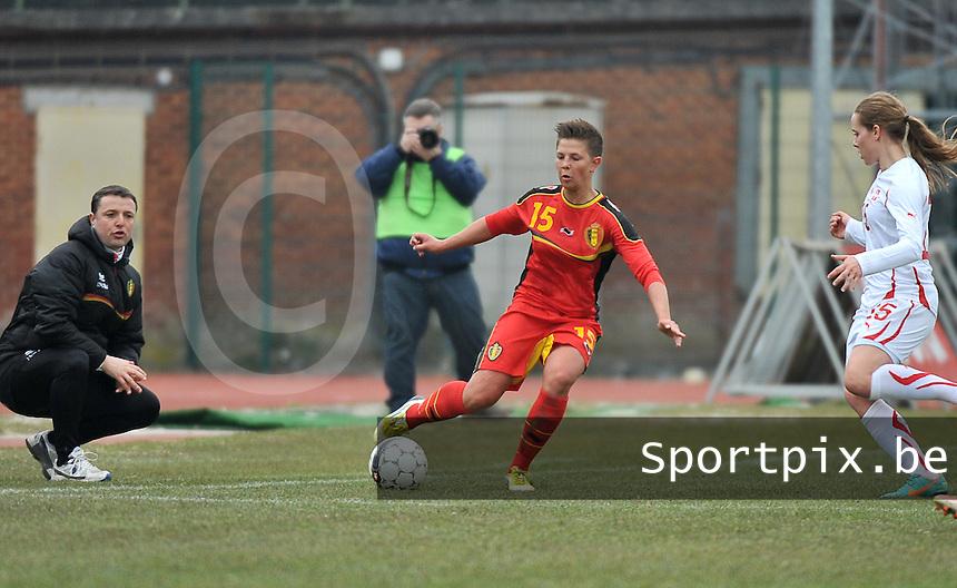Belgium U19 - Switzerland U19 : Celine Verdonck.foto DAVID CATRY / Nikonpro.be