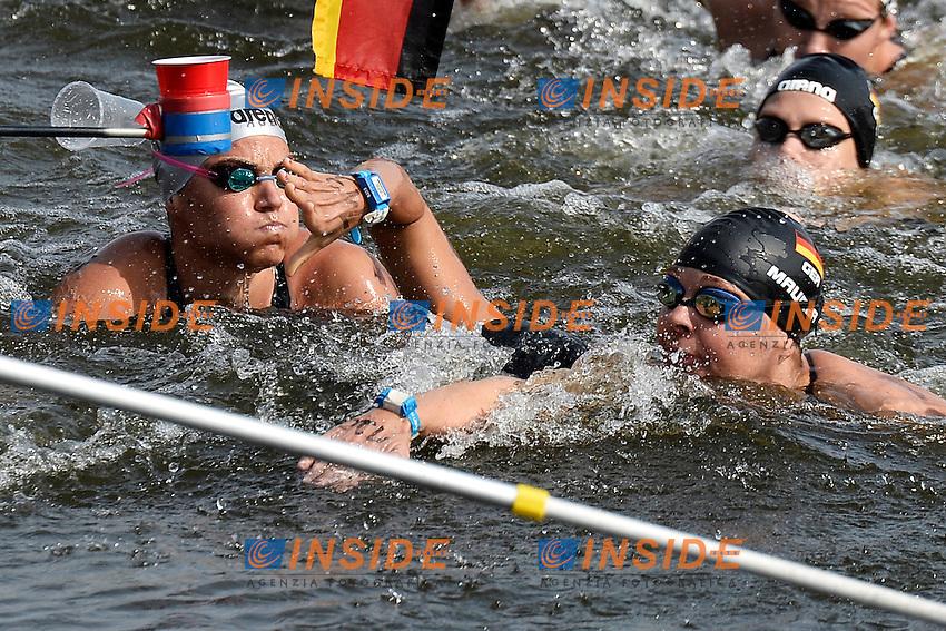 Martina Grimaldi Italia, Angela Maurer Germany <br /> Open Water 25Km <br /> 32nd LEN European Championships  <br /> Berlin, Germany 2014  Aug.13 th - Aug. 24 th<br /> Day05 - Aug. 17<br /> Photo Andrea Staccioli/Deepbluemedia/Insidefoto