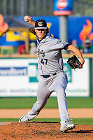 Kane County Cougars pitcher Curtis Taylor (47) during game one of a Midwest League doubleheader against the Wisconsin Timber Rattlers on June 23, 2017 at Fox Cities Stadium in Appleton, Wisconsin.  Kane County defeated Wisconsin 4-3. (Brad Krause/Krause Sports Photography)