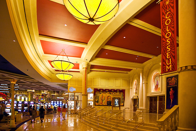 The COLOSSEUM THEATER of CEASARS PALACE HOTEL - LAS VEGAS, NEVADA..