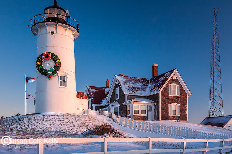 Nobska Lighthouse sunrise, Falmouth, Cape Cod,  MA