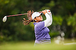 TAOYUAN, TAIWAN - OCTOBER 27:  Lizette Salas tees off on the 9th hole during the day three of the Sunrise LPGA Taiwan Championship at the Sunrise Golf Course on October 27, 2012 in Taoyuan, Taiwan.  Photo by Victor Fraile / The Power of Sport Images