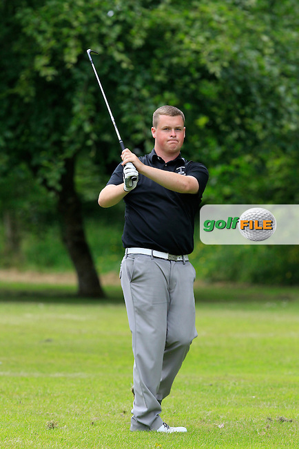 Gavin Fitzmaurice (Balcarrick) on the 6th fairway during Round 2 of the Irish Boys Amateur Open Championship at Tuam Golf Club on Wednesday 24th June 2015.<br /> Picture:  Thos Caffrey / www.golffile.ie