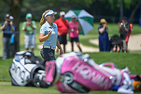 Brooke M. Henderson (CAN) after sinking her birdie putt on 2 during round 3 of the 2018 KPMG Women's PGA Championship, Kemper Lakes Golf Club, at Kildeer, Illinois, USA. 6/30/2018.<br /> Picture: Golffile | Ken Murray<br /> <br /> All photo usage must carry mandatory copyright credit (&copy; Golffile | Ken Murray)