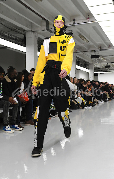 11 January 2016 - London, England - Model. Liam Hodges Fashion Show During London Collections Men Autumn Winter 2016 London. Photo Credit: Kate Green/Alpha Press/AdMedia