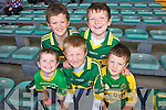 Kerry fans at the Muster Semi Final against Limerick held last Saturday in The Gaelic Grounds, pictured Front l-r: Conor O'Sullivan(Tralee), Jack Dolan(Churchill), Darragh O'Sullivan(Tralee), back l-r: Killian O'Sullivan(Tralee) and Michael Dolan(Churchill)