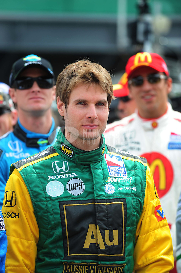 May 25, 2008; Indianapolis, IN, USA; IRL driver Will Power during the 92nd running of the Indianapolis 500 at the Indianapolis Motor Speedway. Mandatory Credit: Mark J. Rebilas-