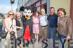 Fans taking as trip down memory lane at the Cahersiveen Festival of Music & the Arts Mickey Mouse meets some of his old fans pictured here l-r; Karen Dillane, Sharon Sugrue, Mickey Mouse, Noreen Sugrue, Michael Sugrue, Derek Sugrue & Helen Coffey.