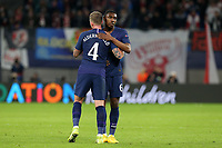 Toby Alderweireld and Malachi Walcott of Tottenham Hotspur during RB Leipzig vs Tottenham Hotspur, UEFA Champions League Football at the Red Bull Arena on 10th March 2020