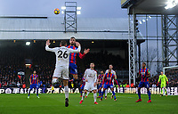 Burnley's Phillip Bardsley battles with Crystal Palace's James McArthur<br /> <br /> Photographer Ashley Crowden/CameraSport<br /> <br /> The Premier League - Crystal Palace v Burnley - Saturday 13th January 2018 - Selhurst Park - London<br /> <br /> World Copyright &copy; 2018 CameraSport. All rights reserved. 43 Linden Ave. Countesthorpe. Leicester. England. LE8 5PG - Tel: +44 (0) 116 277 4147 - admin@camerasport.com - www.camerasport.com