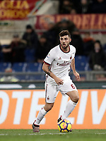 Calcio, Serie A: AS Roma - AC Milan, Roma, stadio Olimpico, 25 febbraio, 2018.<br /> Milan's Patrick Cutrone in action during the Italian Serie A football match between AS Roma and AC Milan at Rome's Olympic stadium, February 28, 2018.<br /> UPDATE IMAGES PRESS/Isabella Bonotto