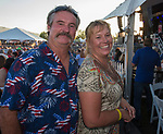 Clayton and Diana Bracy at the VIP tent during Hot August Nights at the Grand Sierra Resort in Reno, Nevada on Friday, August 11, 2017.