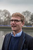 Greater London. United Kingdom, Old Oxford Blue Constantin [Stan] LOULOUDIS. University Boat Races , Cambridge University vs Oxford University. Putney to Mortlake,  Championship Course, River Thames, London. <br /> <br /> Saturday  24.03.18<br /> <br /> [Mandatory Credit  Intersport Images]