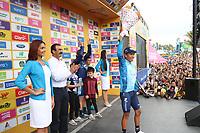 MEDELLIN - COLOMBIA, 17-02-2019:Nairo Quintana ganador de la sexta etapa del Tour Colombia 2.1 2019 con un recorrido de 173.8 Km, que se corrió con salida en El Retiro  y llegada en Las Palmas, Antioquia. / Nairo Quintana, winner of the sixth stage of the Tour Colombia 2.1 2019 during the sixth stage of 173.8 km of Tour Colombia 2.1 2019 that ran in El Retiro with start and arrival in Las Palmas, Antioquia.  Photo: VizzorImage / Eder Garces / Fedeciclismo Prensa / Cont