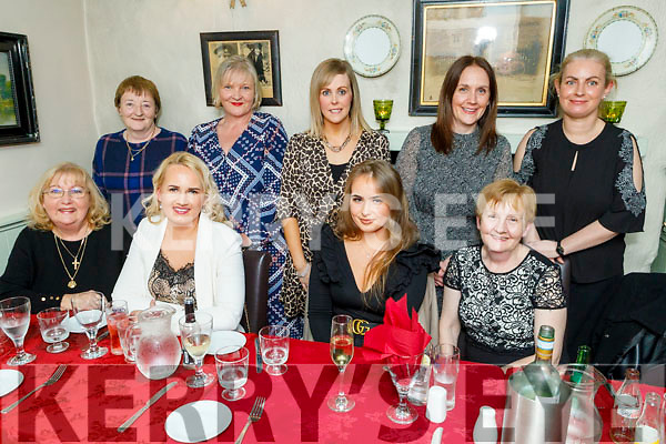 The Reidy family gathering from Knocknagoshel enjoying the evening out in Cassidys on Saturday<br /> Seated l to r: Mary, Sigita, Camilla and Bina Reidy<br /> Back l to r:  Geraldine, Jackie, Breda and Mairead Reidy and Deirdre Moynihan Reidy.