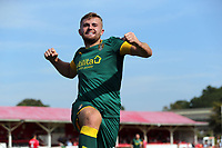 Regan Booty of Notts County celebrates scoring the second goal during Ebbsfleet United vs Notts County, Vanarama National League Football at The Kuflink Stadium on 24th August 2019