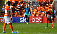 Blackpool's Curtis Tilt reacts to going 2-0 down<br /> <br /> Photographer Alex Dodd/CameraSport<br /> <br /> The EFL Sky Bet League One - Blackpool v MK Dons  - Saturday September 14th 2019 - Bloomfield Road - Blackpool<br /> <br /> World Copyright © 2019 CameraSport. All rights reserved. 43 Linden Ave. Countesthorpe. Leicester. England. LE8 5PG - Tel: +44 (0) 116 277 4147 - admin@camerasport.com - www.camerasport.com