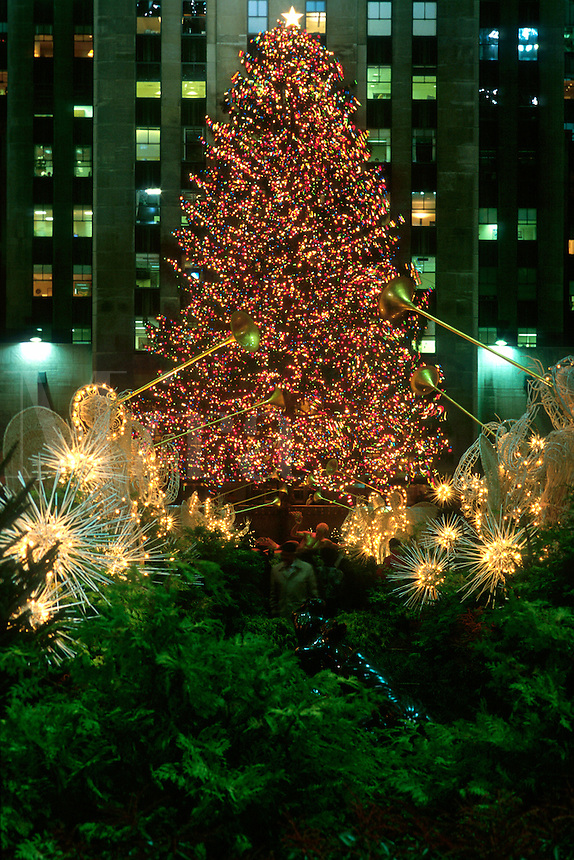 "#JP0518 ""Rockefeller Plaza At Christmas - New York NY"
