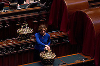 Roma, 30 Gennaio 2015<br /> Camera dei Deputati - Elezione del Presidente della Repubblica<br /> Seconda votazione.  Marianna Madia, al voto<br /> Rome, January 30, 2015<br /> Chamber of Deputies - Election of the President of the Republic<br /> Second Vote.
