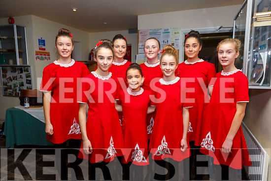 Waterville Set Dancers taking part in the South Kerry Scor na nÓg Finals in Dromid on Saturday were l-r; Aoife Dwyer, Maddie Courtney, Jessica Galvin, Katy Galvin, Emily O'Sullivan, Maeve Courtney, Holly Galvin & Clodagh Dwyer.