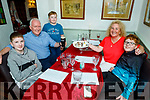The Rusk family enjoying the evening in Cassidy's on Monday evening. <br /> L to r: Jack, Robert and Paddy Rusk and Brid McElligott and Harry Rusk.