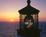 Tillamook County, OR<br /> Cape Meares Lighthouse at sunset, Cape Meares State Park