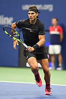 FLUSHING NY- SEPTEMBER 08:  ***NO NY DAILIES*** Rafael Nadal Vs Juan Martin del Potro during the mens semi finals on Arthur Ashe Stadium during the US Open at the USTA Billie Jean King National Tennis Center on September 8, 2017 in Flushing Queens. <br /> CAP/MPI04<br /> &copy;MPI04/Capital Pictures