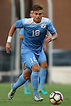 28 August 2016: North Carolina's Alan Winn. The University of North Carolina Tar Heels hosted the Saint Louis University Billikens at Fetter Field in Chapel Hill, North Carolina in a 2016 NCAA Division I Men's Soccer match. UNC won the game 3-0.