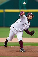 Blake Barber (19) of the Missouri State Bears during a game vs. the Western Illinois Leathernecks at Hammons Field in Springfield, Missouri;  March 19, 2011.  Photo By David Welker/Four Seam Images