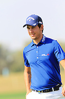 Matteo Manassero (ITA) on the 12th green during Thursday's Round 1 of the 2016 Portugal Masters held at the Oceanico Victoria Golf Course, Vilamoura, Algarve, Portugal. 19th October 2016.<br /> Picture: Eoin Clarke | Golffile<br /> <br /> <br /> All photos usage must carry mandatory copyright credit (&copy; Golffile | Eoin Clarke)