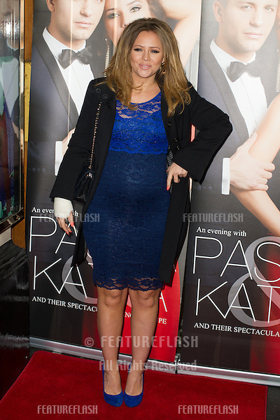 Kimberley Walsh at the Katya and Pasha West End show - Gala night held at the Lyric Theatre, London. 07/04/2014 Picture by: Dave Norton / Featureflash